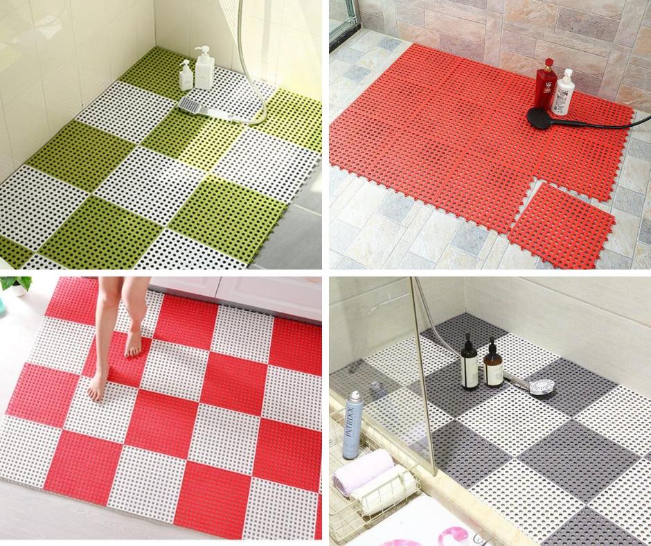 Thảm Nhựa Chống Trơn Trượt Nhà Tắm Nhà Bếp, Thảm nhựa ghép thoát nước rất tốt (30*30cm một tấm)