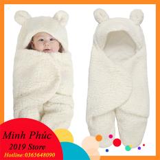 [HÀNG ĐẸP-CAM KẾT Y HÌNH] Túi choàng gấu thoáng khí cho bé hình thú dễ thương, Chăn quần dạng khăn ủ kén quấn nhộng lông cừu Baby Blanket cho trẻ sơ sinh đến 6 tháng tuổi