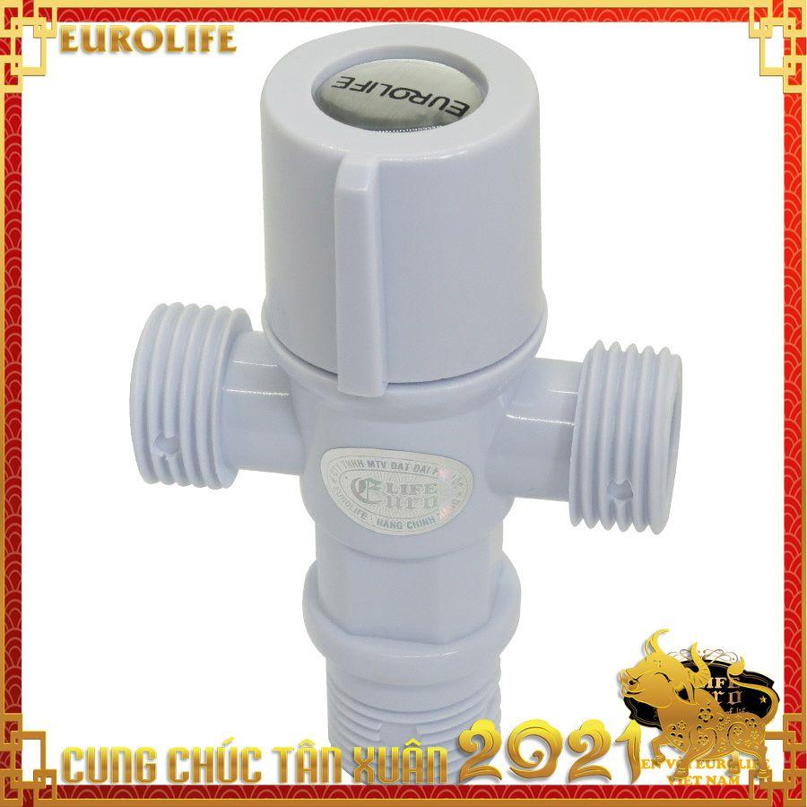 Van giảm áp, T chia bồn cầu nhựa ABS Eurolife EL-TN02 (Trắng)
