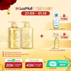 Bộ đôi dầu gội xả phục hồi ngăn rụng tóc Tsubaki Premium Repair 490ml/chai