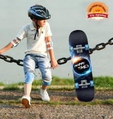 Ván trượt trẻ em thiếu niên có bánh phát sáng Skateboard sành điệu + Bộ bảo vệ tay chân