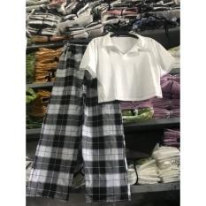 Sét áo crt polo quần kẻ nm