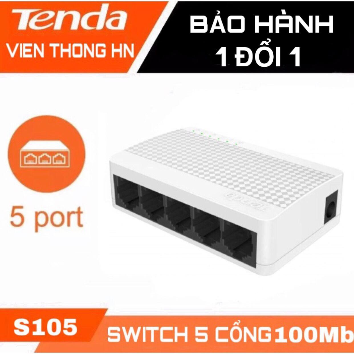 [Nhập ELJAN12 giảm 10%, tối đa 200k, đơn từ 99k]Switch 5 port - Bộ chia mạng 5 cổng tenda s105...