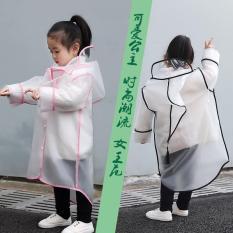 Áo mưa trẻ em trong suốt kiểu dáng Hàn Quốc Áo mưa măng tô cho bé