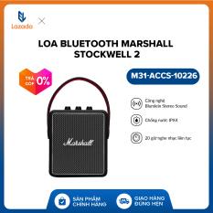 [VOUCHER 10% – TRẢ GÓP 0%] Loa bluetooth Marshall Stockwell 2 l Bluetooth 5.0 l Chống nước IPX4 l Công nghệ Blumlein Stereo Sound l M31-ACCS-10226 l Đen