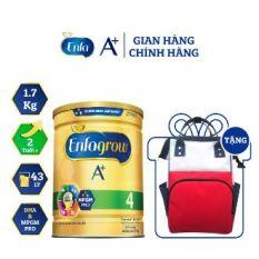 [Tặng Balo Bỉm Sữa] Sữa Bột Enfagrow A+ 4 Với DHA Và MFGM Cho Trẻ Từ 2-6 Tuổi – Lon 1.7kg chính hãng