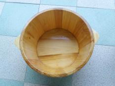 Chậu gỗ thông ngâm chân không hạt