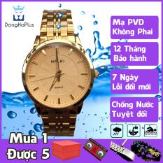 Đồng hồ nam chống nước chính hãng Halei HL552 dây thép không gỉ, mạ pvd bền màu, chống nước 10 atm đi tắm, bơi thoải mái, khóa gập, giá rẻ, bền, đẹp mới nhất+ TẶNG HỘP + 2 PIN DỰ TRỮ + VÒNG