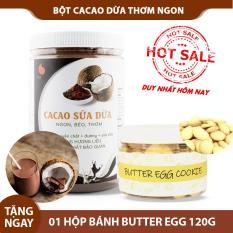 Bột cacao dừa đậm đà thơm ngon , đặc biệt không pha trộn hương liệu , Light Cacao , pha chế tiện lợi , dạng hũ dễ bảo quản , 550g
