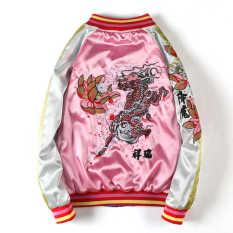 Bomber Nữ Bomber thêu rồng Áo Khoác Nữ Bóng Chày Hot Bomber Jacket Nữ Áo Khoác Nam Bomber Nam Bomber Jacket (MẶC ĐƯỢC 2 MẶT) ,Bomber jacket nam ,áo khoác Bomber cao cấp