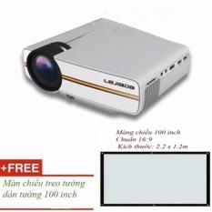 Smart1688 Máy chiếu mini YG 400 HD 1080 + Tặng màn chiếu dán tường 100 inch
