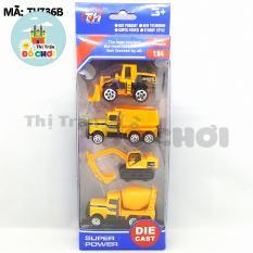 Bộ đồ chơi mô hình xe chạy trớn mini nhiều màu bằng nhựa cho bé (TH736) – Thị trấn đồ chơi