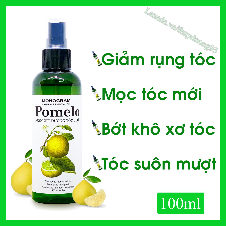 Nước xịt dưỡng tóc tinh dầu bưởi Pomelo 100ml giúp giảm gãy rụng, nuôi dưỡng tóc từ sâu bên trong...