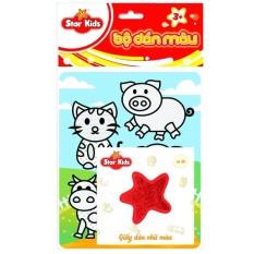 Bộ tranh dán màu thế giới thú cưng rstar K-603, chất liệu và thiết kế an toàn cho trẻ, hàng đảm bảo như mô tả