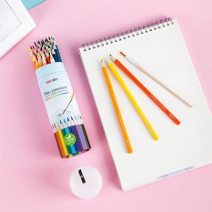 Bút chì màu nước Deli cao cấp dạng cốc 12/24/36/48 màu – 68129/ 68130/ 68131/ 68132