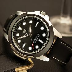 Đồng hồ nam Yazole 372 Dây da Dạ quang phong cách thể thao