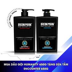 (MUA 1 TẶNG 1) Mua dầu gội nhiệt hương nước hoa Ironman Humanity Hero 650g Tặng sữa tắm nhiệt hương nước hoa Ironman Encounter 650g