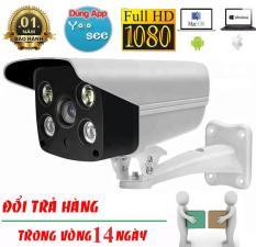 Camera Wifi Yoosee ngoài trời quay đêm có màu, đàm thoại 2 chiều IPW011 2.0