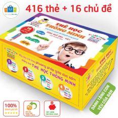 Bộ thẻ học thông minh Glenn Doman 16 chủ đề 416 thẻ cho bé theo phương pháp giáo dục sớm