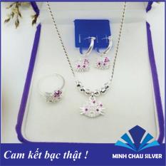 Set trang sức bạc Hello Kitty cho bé