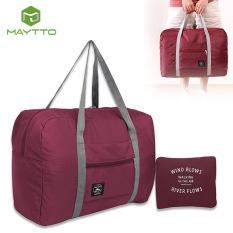 Maytto Túi du lịch lớn Túi du lịch Túi du lịch Túi cuối tuần Nam nữ Túi đựng hành lý có thể gập lại Túi vali xách tay đa chức năng Túi đựng đồ du lịch Large Travel Bags Duffel Luggage Bags Weekend Bags Men Women Storage Bags