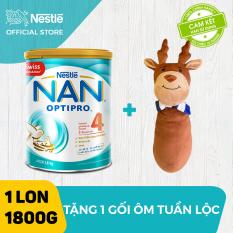 Sữa bột Nestle NAN Optipro 4 cho trẻ trên 2 tuổi 1.8kg + Tặng 1 gối ôm tuần lộc – Giới hạn 5 sản phẩm/khách hàng
