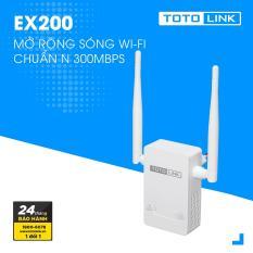 [Có video] Thiết bị mở rộng sóng WiFi TOTOLINK EX200 (Trắng) nhỏ gọn hiện đại – Hãng phân phối chính thức
