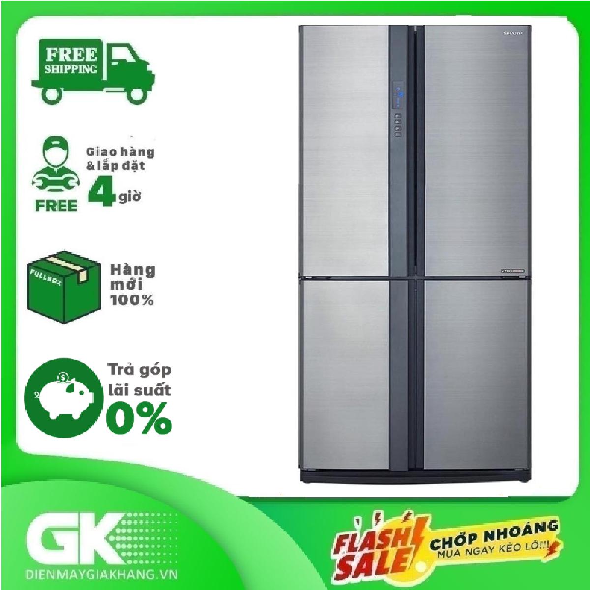 TRẢ GÓP 0% – Tủ lạnh Sharp Inverter 556 lít SJ-FX631V-SL – Bảo hành 12 tháng