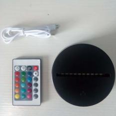 Bộ chân đế đèn LED 3D & Remote điều khiển từ xa