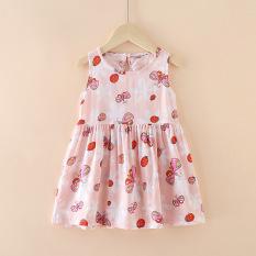 Váy, đầm bé gái ZAKUDO – Váy trẻ em mùa hè chất lụa đũi mặc ở nhà thoáng mát nhiều hoạt tiết hoạt hình dễ thương QATE14