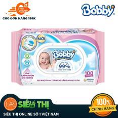 [Siêu thị Lazada] – Khăn ướt trẻ em Bobby Care hương dịu nhẹ gói 100 miếng