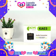 Bộ chuyển đổi âm thanh TV 4K quang optical sang audio AV ra amply + Cáp optical Kiwi KA03