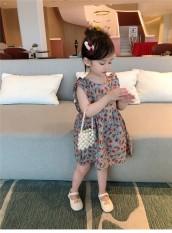 Váy đầm công chúa 2 dây nơ lưng cao cấp cho bé 8-20kg