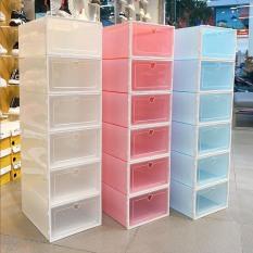 Combo 10 Hộp Đựng Giày , Kệ Để Giày Dép Tủ Giày Tủ Ghép ,Tủ đựng giày, Kệ Giày,Tủ Lắp Ráp Bảo Quản Giày Nắp Nhựa Cứng Size Lớn