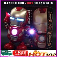 Đồ Chơi Nhảy Đồ chơi điện tử đèn LED Có Âm Thanh Ánh Sáng Âm Nhạc Avengers Hành Động Hình Người Sắt Iron Man