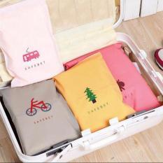 Combo 4 túi zip khoá kéo đựng đồ dùng khi đi du lịch tiện lợi