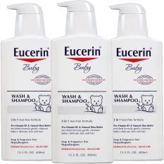 Sữa tắm gội cho bé Eucerin Baby Wash & Shampoo 400ml USA
