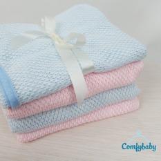 Chăn cho bé bằng vải lưới chống ngạt Thái Lan Comfybaby CF-CHAN010 chăn ủ sơ sinh 100x150cm màu hồng
