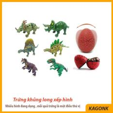 Đồ chơi trứng khủng long xếp hình Puzzle làm từ nhựa ABS nguyên sinh an toàn – Đồ chơi trẻ em Kagonk 291019