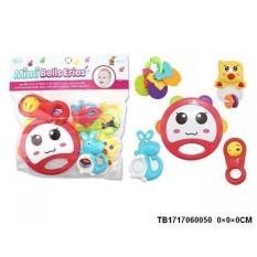 Túi đồ chơi xúc xắc 5 món Toys House 776-1, được thiết kế an toàn, với họa tiết bắt mắt và nhiều màu sắc sinh động