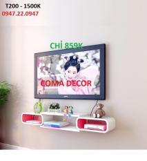 [Giá rẻ dùng thử] Kệ Tivi treo tường bán chạy lắp đẹp cho Tivi 40-50inch (chọn màu)