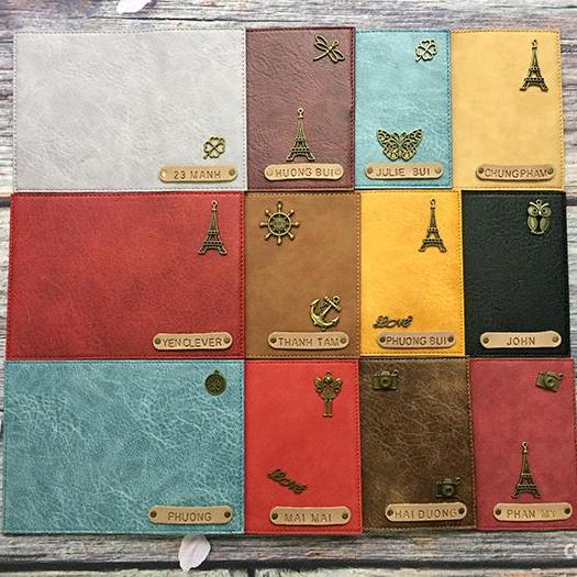 Passport Cover Bao Da Hộ Chiếu Combo 4 Charm