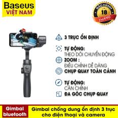 [VOUCHER HOT 50K] Gậy chụp ảnh selfie bluetooth không dây Baseus Handheld Gimbal Stabilizer Control Smartphone với 3 trục Gimbal ổn định, cho hình ảnh sắc nét cả trong nhà và ngoài trời