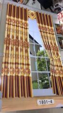 Rèm cửa sổ vảir bóng ép nhungmàu vàng đông cao 1.4m