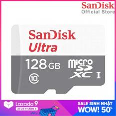 [Nhập ELMAY21 giảm 10% tối đa 200k đơn từ 99k] Thẻ Nhớ MicroSDXC SanDisk Ultra 128GB 100MB/s 667x SDSQUNR-128G-GN6MN