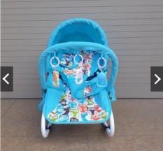 [Miễn ship] Ghế rung cao cấp ăn bột cho bé – Có bảo hiểm + đồ chơi + mái che + điều chỉnh nằm ngồi