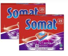 Combo 02 hộp viên rửa chén cho máy Somat Allin 1 Extra10- 25 Viên