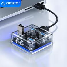 Bộ chia USB Hub chia 4 cổng USB 3.0 Orico MH4U trong suốt – Bảo hành 12 tháng