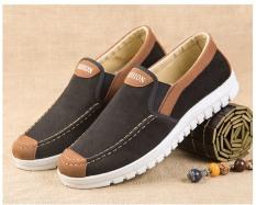 Giày lười da lộn nam – Fashion đen nâu đế siêu êm