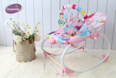 Ghế rung bập bênh cho bé Mastela MSTL-06920-22 kết hợp ghế ăn, ghế thư giãn đọc sách có nhạc và đồ chơi treo cũi